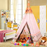 Buringer Teepee Tent For Kids Indian Teepee Play Tents for Children Indoor Outdoor Playhouse