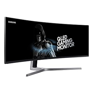 Samsung 49-Inch CHG90 144Hz Curved Gaming Monitor (LC49HG90DMNXZA) – Super Ultrawide Screen QLED Computer Monitor, 3840 x 1080p Resolution, 1ms Response, FreeSync 2 with HDR