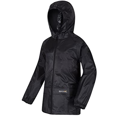 9cb9673e282 Regatta Kids Fully Waterproof Jacket Black