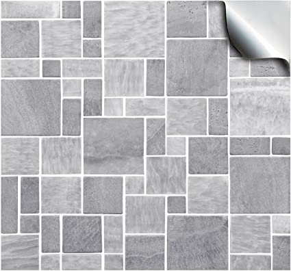 24 Light Grey Printed In 2d Kitchen Bathroom Tile Stickers For 6 Inches 15cm Square Tiles Tp 31 Directly From Tile Style Decals No