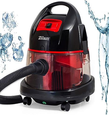 Aspiradora con filtro de agua, sin bolsa, agua Aspiradora | seco y húmedo aspirador | 2.000 W | rojo: Amazon.es: Hogar