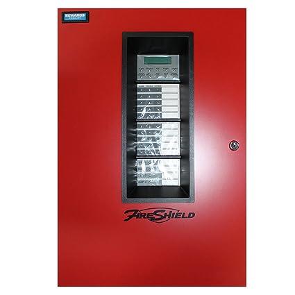 Est Edwards e-fs1004rd FireShield 10 Zone Panel de control de alarma contra incendios,