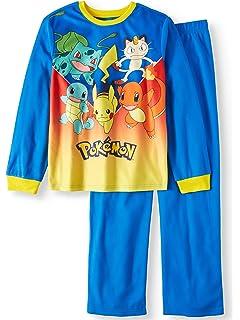 Pokemon Boys Evolution L//S Two-Piece Pajama Pant Set Size 4 6 8 10