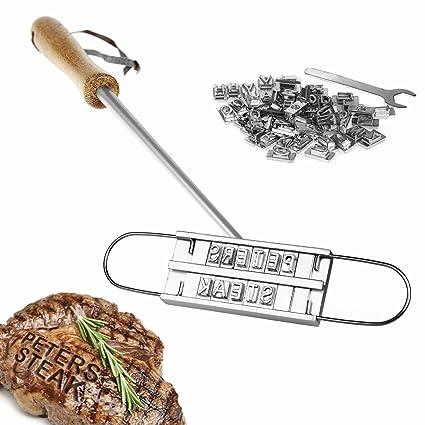 Kitchen Rockstars Marcador de Carne con Letras Intercambiables – Accesorios para Barbacoas – Regalos para Padres