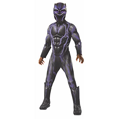 Rubie's Boys Black Panther Super Deluxe Light up Battle Costume, As Shown, Small: Toys & Games