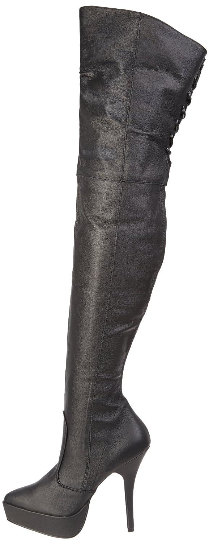 Pleaser 12 Women's Indulge-3011 Boot B000XUNB08 12 Pleaser B(M) US|Black Leather 83450f