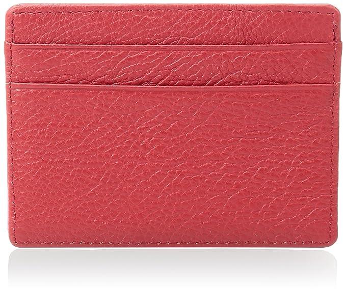 af1864f22cfb Dealstores123 Women's Slim Leather ID and Card Holder Wallet, Orange ...
