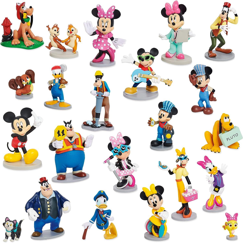 Amazon Com Disney Mickey Mouse And Friends Mega Figurine Set Toys Games