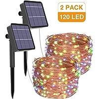 [2 Pack] Guirnaldas Luces Exterior Solar, Litogo Luces