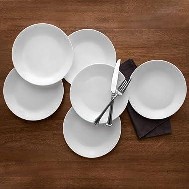 Corelle Livingware Winter Frost White 10.25  Dinner Plate, Set of 6