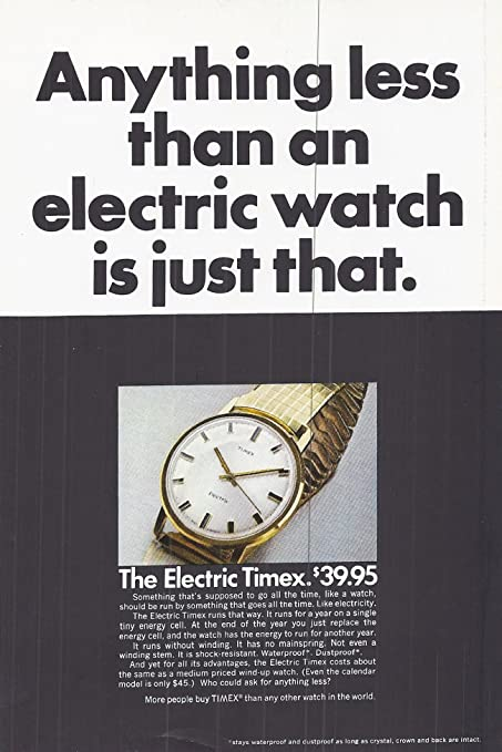 Image result for electric watch advertisement