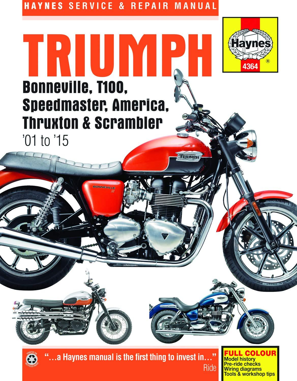Triumph Bonneville, T100, Speedmaster, America, Thruxton & Scrambler  (01-15) Haynes Repair Manual (See specific years covered) (Haynes Service &  Repair Manual): Editors of Haynes Manuals: 9781785210365: Amazon.com: Books | 2014 Thruxton Wiring Diagram |  | Amazon.com