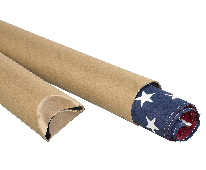 2 x 20 Pack of 50 Aviditi S2020K Crimped End Mailing Tubes Kraft