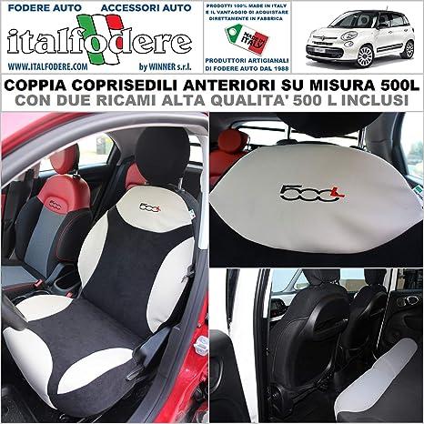 Fodere Foderine Solo Anteriori Nero COPPIA COPRISEDILI Fiat 500 SU MISURA