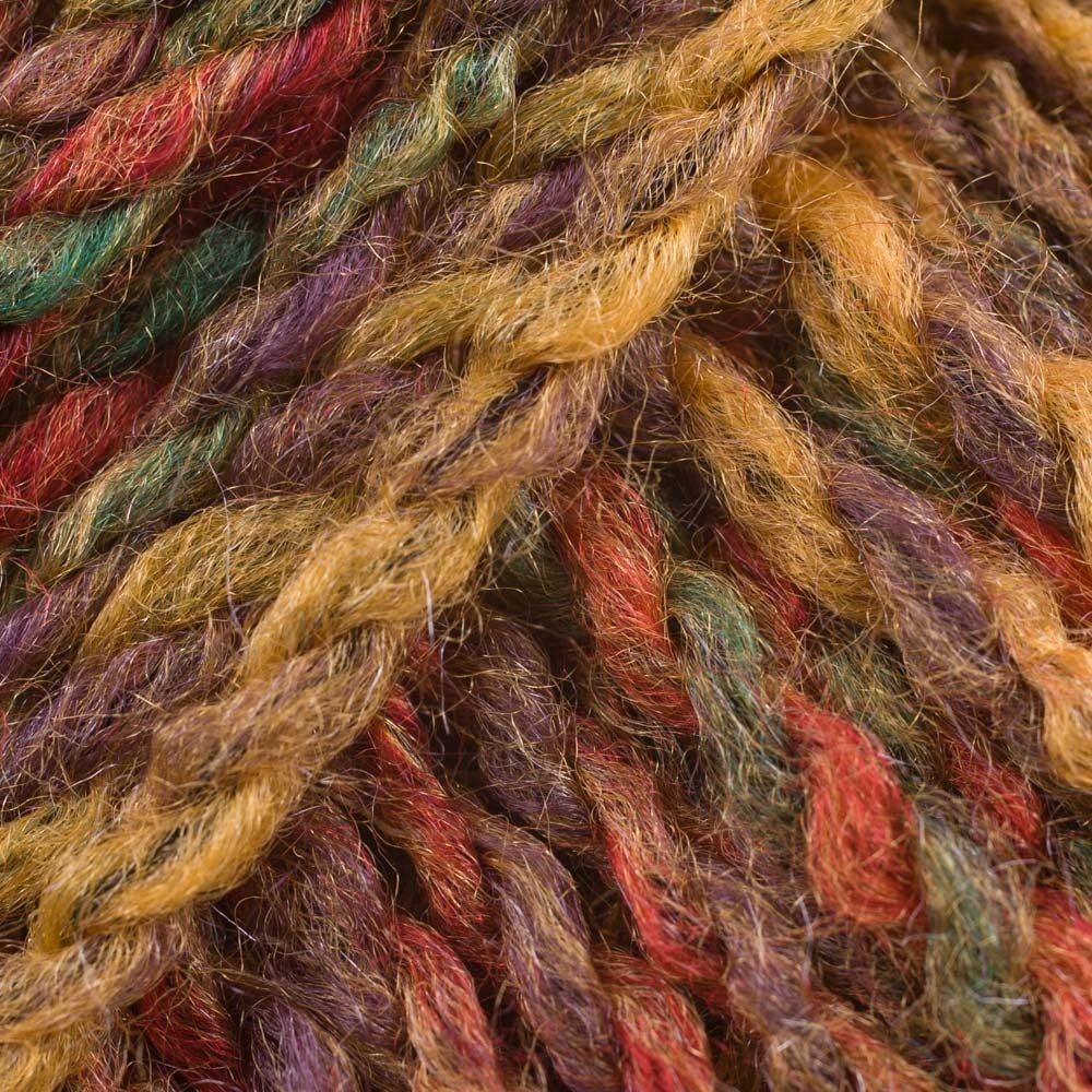 James Brett Marble Chunky Knitting Yarn 100% Soft Acrylic Wool 200g Ball (Green Yellow & Red Mix MC7) James C Brett