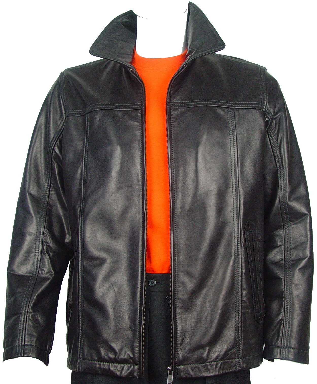 Johnny 1025 Big Man Business Clothing Popular Leather Jacket & Coats All Size by Johnnyblue