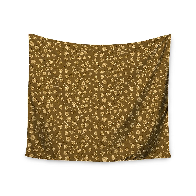 68 x 80 KESS InHouse Mayacoa Studio Golden Seed Gold Illustration Wall Tapestry