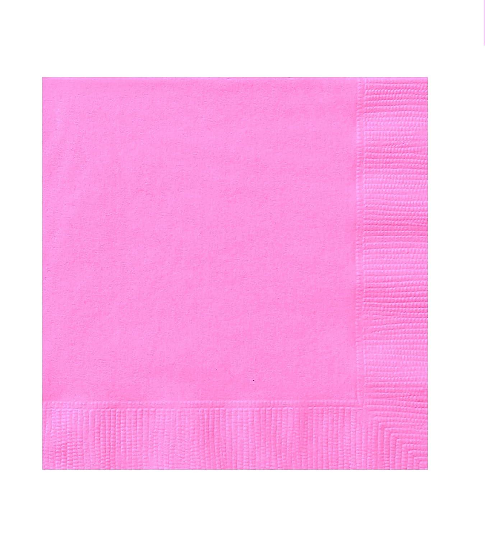 Naissance Anniversaire Mariage bapt/ême Set 20 PEZZI Rose nappes color/ées Couleurs Pastel USA et Jet/é takestop/® Serviettes en Papier pour f/êtes