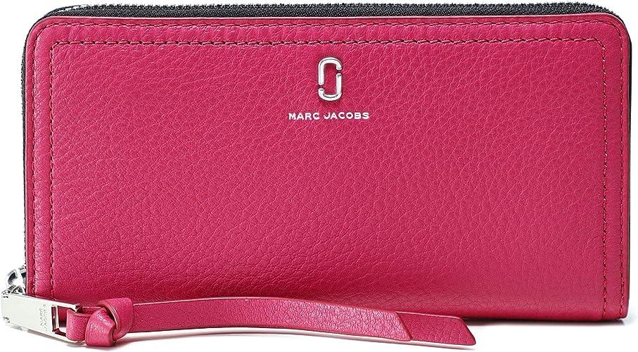 Marc Jacobs Femmes le portefeuille en cuir continental standard softshot  Rose Une Taille