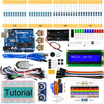 Freenove Ultrasonic Starter Kit with Control Board (Compatible with Arduino IDE), 139 Pages Detailed Tutorial, 158 Items, 26 Projects, Solderless Breadboard: Amazon.es: Electrónica