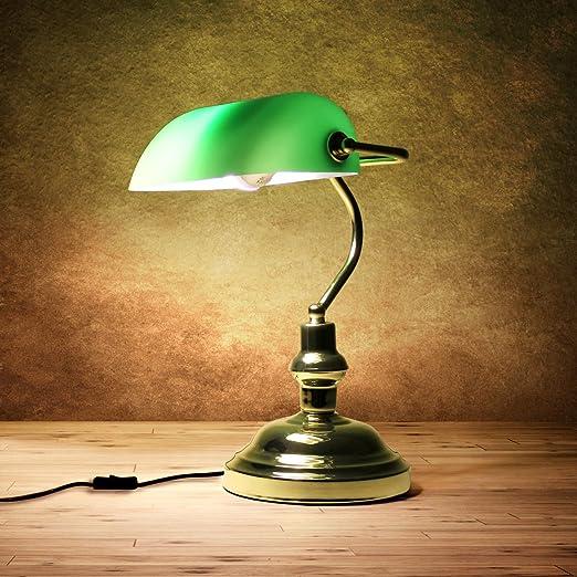 Lux Pro Lampada Da Tavolo Nostalgica Colonia Lampada Da Scrivania Ufficio Lampada Biblioteca Verde Amazon It Casa E Cucina