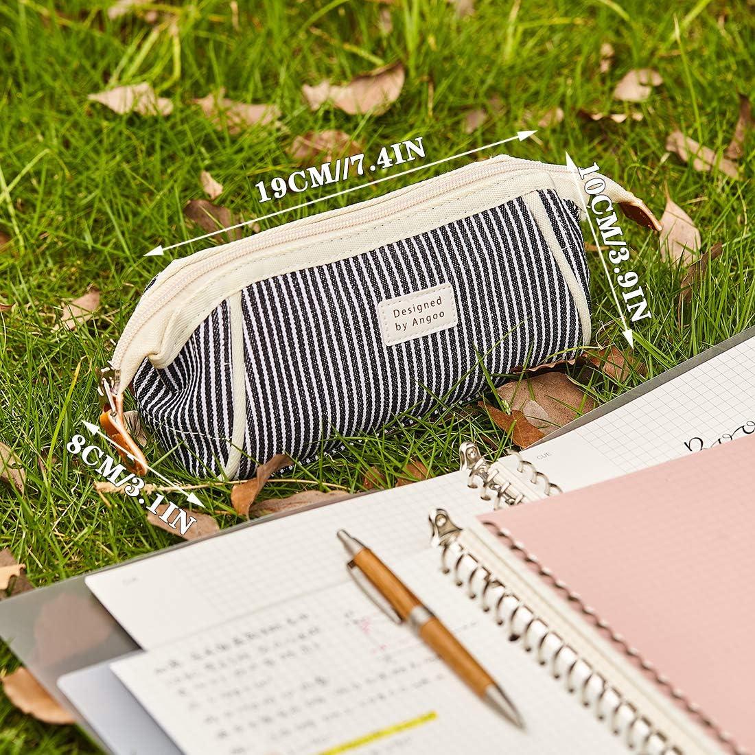 bleu Oyachic Trousses Scolaire Grande Capacit/é /Étui /à Crayons Pencil Case Filles Poche Crayon Case Pen Bag Porte-crayons /à Stylos Trousse /à Maquillage Organisateur de Rangement