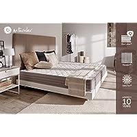NATURALEX Matelas Aerolatex - Mousse adaptative Blue-Latex + AQUAPUR - 7 Zones de Confort - LITERIE Haut DE Gamme - Hauteur: 18 cm