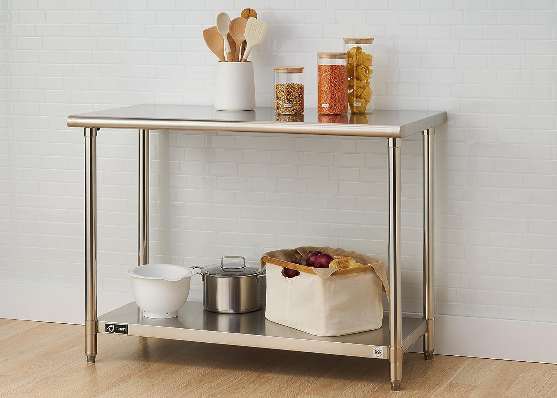 TRINITY EcoStorage NSF 48-Inch Stainless Steel Utility Table,