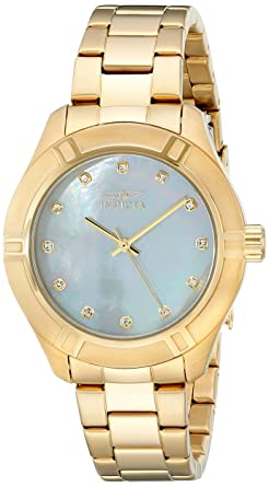 Diver Women's Gold Pro Tone Steel 18324 Watch Invicta Stainless CrhxtQds