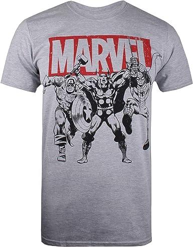 Marvel Trio Heroes Camiseta para Hombre: Amazon.es: Ropa y accesorios