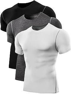 f6987c56352 Amazon.com  Neleus Men s Compression Baselayer Athletic Workout T ...