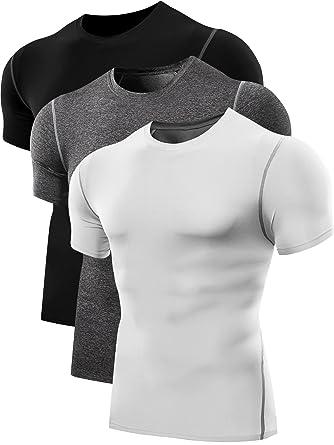 73735576dbd Amazon.com  Neleus Men s Workout Athletic Compression Shirts Pack of ...