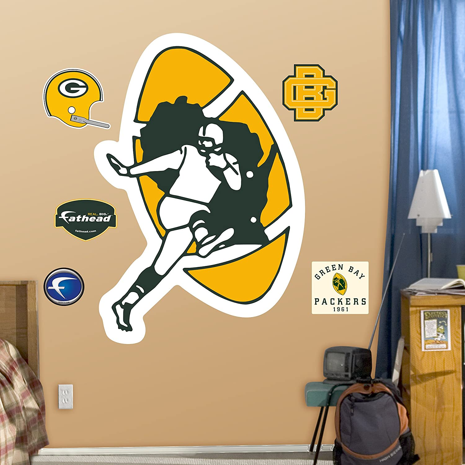 Amazing Amazon.com : NFL Green Bay Packers Classic Logo Wall Graphics : Sports Fan  Wall Banners : Sports U0026 Outdoors Part 21