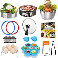 Pressure Cooker Accessory Set, Accessories 6 Qt Compatible with 6Qt Instant Pot, with Silicone Sealing Rings, Tempered…