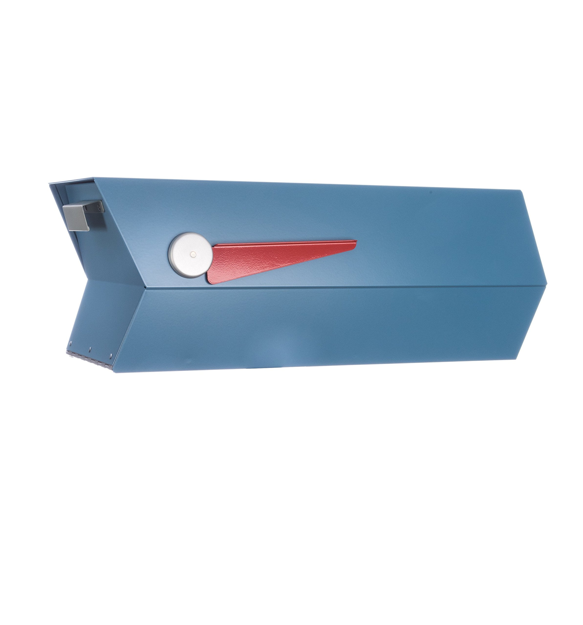Mid-Century Modern Mailbox | One Color (satin blue)