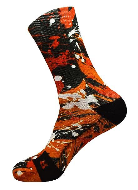 STYLE FOREVER Loca naranja Estilo Multicolor personalizado Active Athletic Calcetines deportivos (35-38)