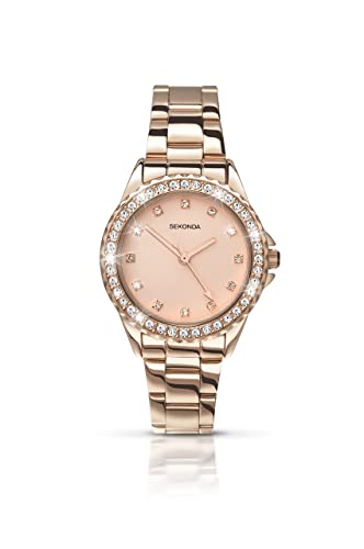 f40ae8d8a0f Sekonda Women s Quartz Watch with Rose Gold Dial Analogue Display and Rose  Gold Alloy Bracelet 4253.27