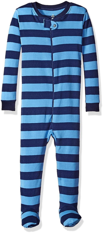 Petit Lem Boys' Sky Stripe 1 Piece Footie Pajama 16FF09DU02