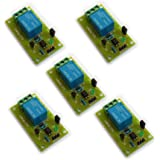 Electrobot 5v Relay Module for Arduino ARM PIC AVR MCU 5V Indicator Light LED 1 Channel Relay Module Works with Official Arduino Boards Pack Of (5)