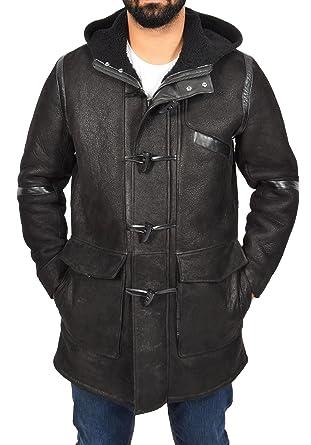 plus gros rabais vraie qualité belle qualité Manteau Duffle en Peau De Mouton Véritable pour Homme ...