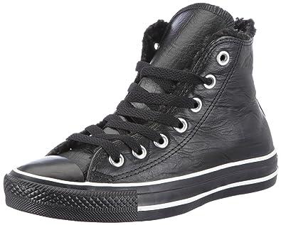 Converse Unisex-Erwachsene CT AS Hi Leather Black Sneaker