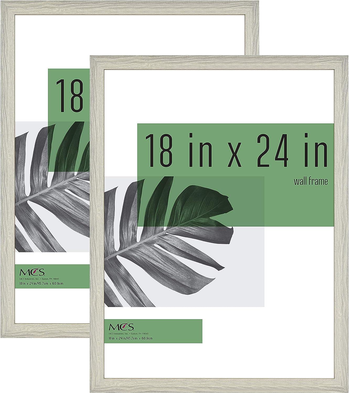 MCS Industries 63806 18x24 Inch 2-Pack, Gray Woodgrain Studio Gallery Frame, 18x24, 2 Count