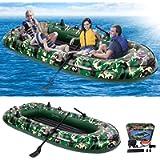 EPROSMIN Inflatable Boat for Adult - 9Ft Raft Inflatable Kayak-4 Person Boat for Adults Fishing Boat Camouflage Kayak…