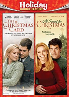 holiday double feature christmas cardall i want for christmas - Where Was The Christmas Card Filmed