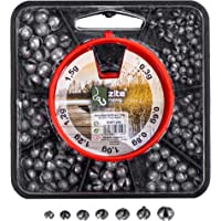 Zite Fishing Dispensador de Plomos de Pesca 150g - 7 Compartimentos Box Split Shot Assortment - 0,3-1,5g