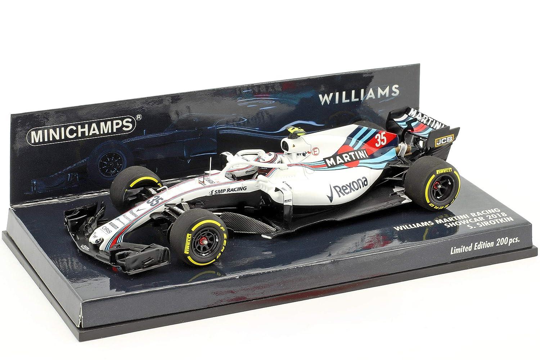 Minichamps 417189035 1  43 Williams Martini Racing – FW41 Launch Auto – Sergei sirotkin, weiß