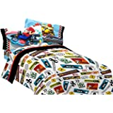 Nintendo Super Mario Road Rumble Microfiber Sheet Set, Twin