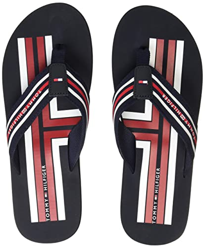 d9314f5493b TOMMY HILFIGER Men s Flip Flops Thong Sandals  Buy Online at Low Prices in  India - Amazon.in