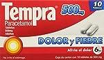 Analgésico para Adultos con Paracetamol para tratar Dolor y Fiebre , Tempra 500 mg, 10 Tabletas