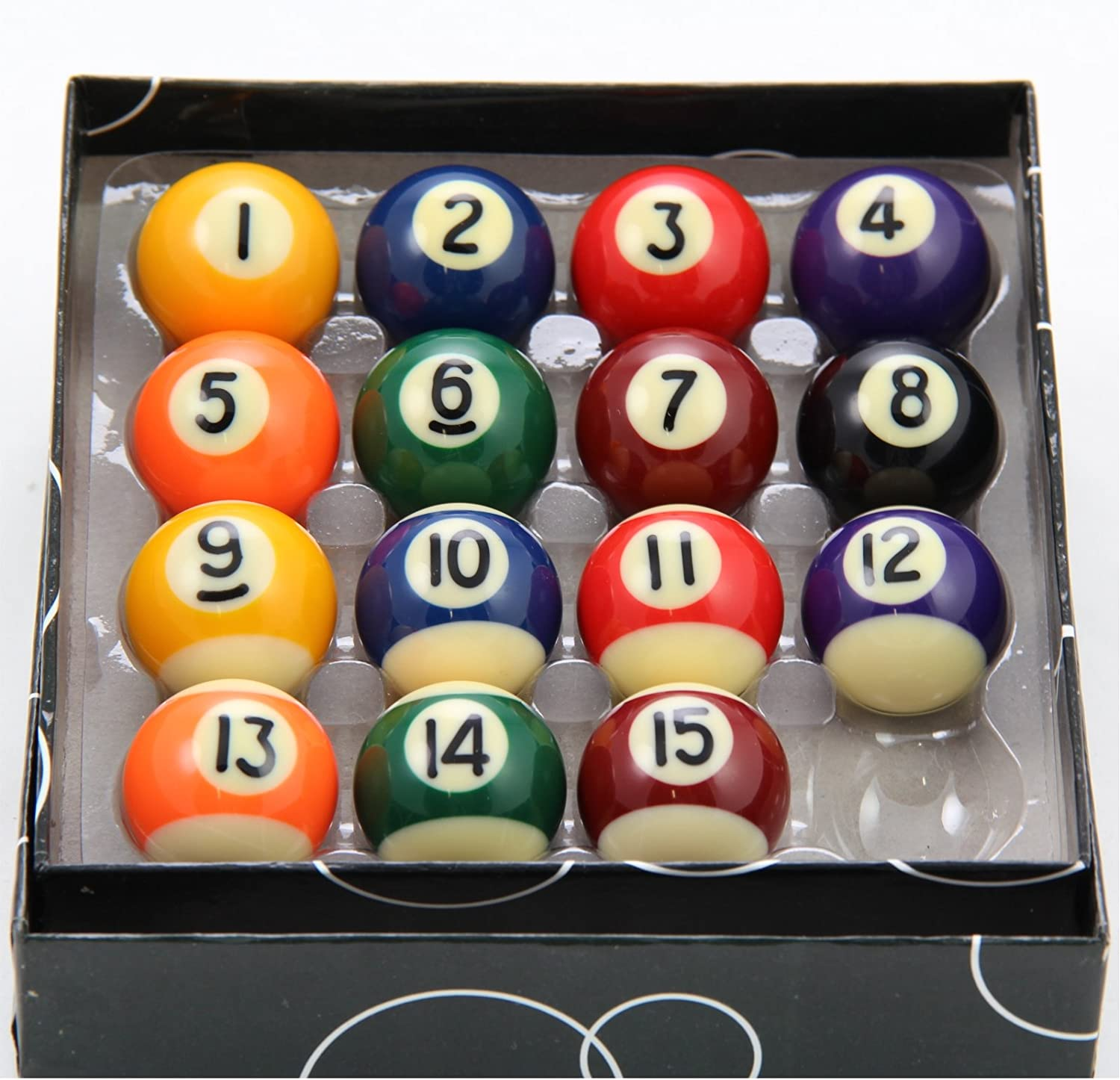 Jonny 8 Ball Set Spots and Stripes Pool Balls Juego de 15 Mini ...